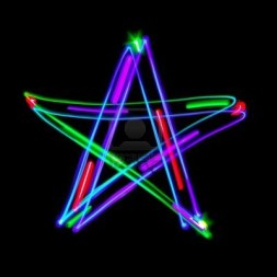 6859208-the-five-pointed-star-on-black-freezelight-photo-style
